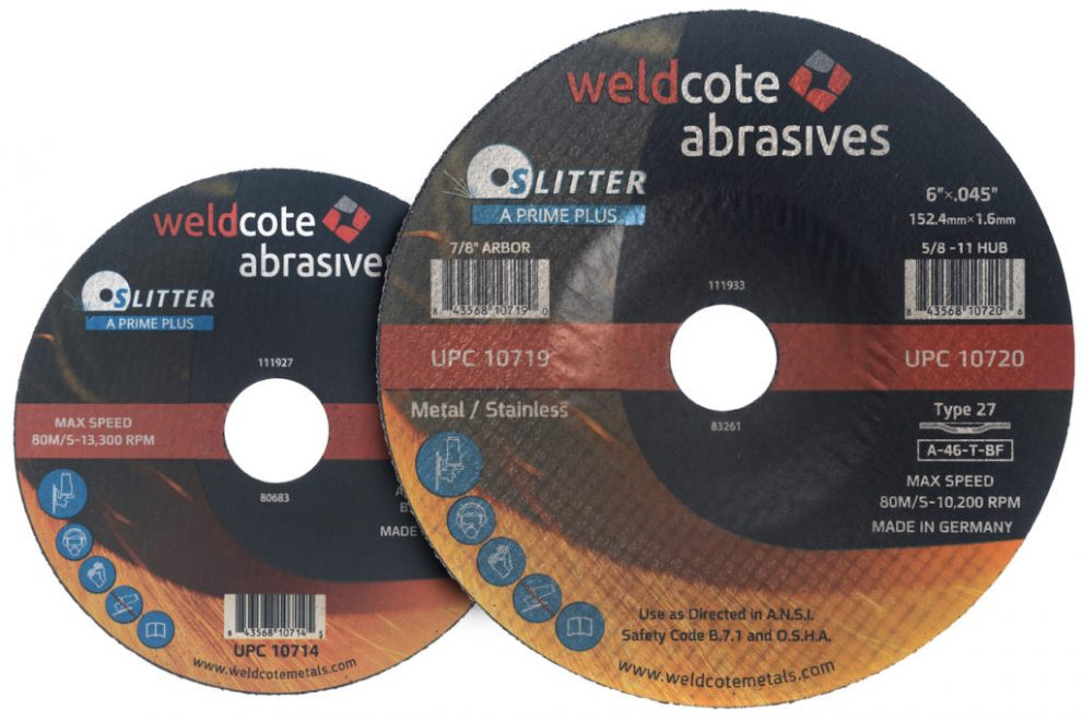 Weldcote Announces High-Quality A-PRIME PLUS Line of Cutting Wheels