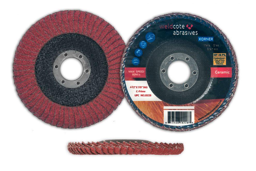 U.S.-Made Korner Premium Flap Discs Available in Zirconia and Ceramic from Weldcote