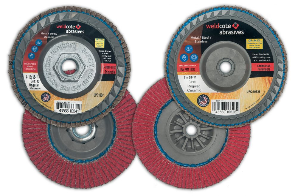 U.S.-Made Premium Trimmable Flap Discs Available from Weldcote