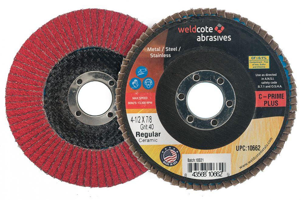 Weldcote Announces C-PRIME and C-PRIME PLUS Line of Ceramic Flap Discs